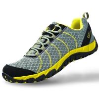 埃尔蒙特ALPINT MOUNTAIN 户外登山徒步鞋低帮男女款越野跑步鞋减震轻便透气耐磨防滑640-807 灰色 44