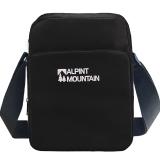 埃尔蒙特ALPINT MOUNTAIN 户外运动单肩包 男士女士休闲旅行旅游斜挎包 620-701 黑色