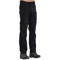 ALPINT MOUNTAIN 户外速干裤 两截可拆卸速干衣裤套装女款 快干登山长裤 620-201 男款黑色XL