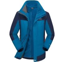埃尔蒙特 ALPINT MOUNTAIN 冲锋衣 男款三合一户外服装防风衣保暖衣防寒两件套 640-624 宝蓝 S