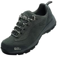 埃尔蒙特 ALPINT MOUNTAIN户外男女登山鞋徒步鞋运动鞋耐磨防滑户外鞋真皮透气工装鞋子 640-816 灰色 44