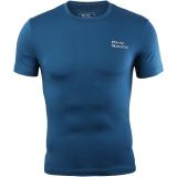 埃尔蒙特 ALPINT MOUNTAIN 男运动户外紧身衣 健身快干弹力短袖T恤 650-506 孔雀蓝 XL