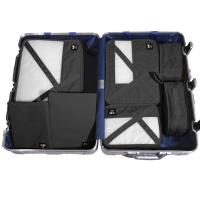 必优美 BUBM 收纳包 旅行洗漱收纳套装7件套 行李箱衣服整理收纳袋 轻质防泼水 QJT经典黑