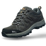 埃尔蒙特 户外男女登山鞋 徒步鞋 运动鞋 耐磨防滑户外鞋 真皮透气 工装鞋子 630-827 男款 深灰 42