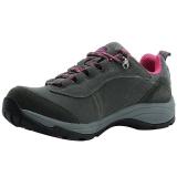 埃尔蒙特 ALPINT MOUNTAIN户外男女登山鞋徒步鞋运动鞋耐磨防滑户外鞋真皮透气工装鞋子 640-817 灰色 36
