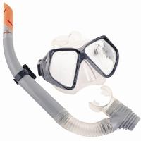 Bestway潜水镜浮潜套装潜水装备 钢化玻璃镜片(14岁以上青少年适用)24003 灰色
