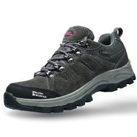 埃尔蒙特 户外男女登山鞋 徒步鞋 运动鞋 耐磨防滑户外鞋 真皮透气 工装鞋子 630-828 女款 深灰 38