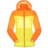 ALPINT MOUNTAIN 户外服装情侣拼接男女皮肤风衣快速防护晒衣服 630-107女款 桔色+黄色 M