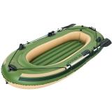 Bestway双人加厚钓鱼船充气船橡皮艇皮筏艇皮划艇气垫船(附赠铝合金船桨)65051