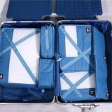 必优美 BUBM 收纳包 旅行洗漱收纳套装7件套 行李箱衣服整理收纳袋 轻质防泼水 QJT蓝色