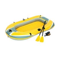 Bestway双人加厚充气船橡皮艇皮划艇皮筏艇气垫船(附赠船桨、充气泵)61083