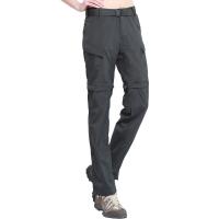 ALPINT MOUNTAIN 户外速干裤 两截可拆卸速干衣裤套装女款 快干登山长裤 620-202 女款深灰XL