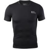埃尔蒙特 ALPINT MOUNTAIN 男运动户外紧身衣 健身快干弹力短袖T恤 650-506 黑色 L