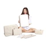 必优美 BUBM 收纳包 大容量旅行收纳套装6件套 行李箱收纳整理收纳袋 秋冬衣服 鞋子收纳包 T6JT米白色