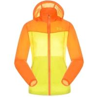 ALPINT MOUNTAIN 户外服装情侣拼接男女皮肤风衣快速防护晒衣服 630-107女款 桔色+黄色 L