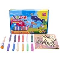 得力(deli)9674 手工绘画DIY沙画礼盒套装 12色砂画工具 内附9张画纸