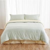 大朴(DAPU)套件家纺 A类床品 精梳纯棉四件套 缎纹印花床单被罩 绿色圆点 1.8米床 220*240cm