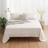 大朴(DAPU)床单家纺 A类床品 精梳纯棉斜纹床单 大双人被单 单件 几何条纹 1.8米床 230*270cm