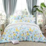 多喜爱(Dohia)床品套件 全棉斜纹双人四件套 床单款 梦幻科尔马 加大1.8米 230*230cm