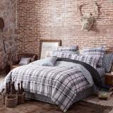 多喜爱(Dohia)床品套件 全棉斜纹四件套 床单款 慕格 双人 1.8米床 230*230cm