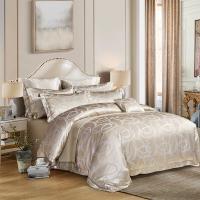 多喜爱(Dohia)床品套件 精致提花典雅四件套 床单款 罗德斯 1.8米床 230*230cm