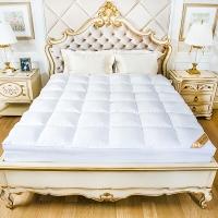 鸿润 优雅宝贝 床垫家纺 全棉50%白鹅绒床垫床褥 榻榻米透气床褥子 酒店床护垫 羽绒床垫 适用1.5米床