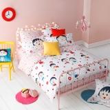 多喜爱(Dohia)床品套件 樱桃小丸子纯棉卡通四件套 床单款 友谊万万岁 1.8米床 230*229cm