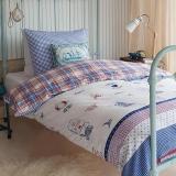 多喜爱(Dohia)床品套件 全棉斜纹双人四件套 床单款 斯莱特 1.5米床 200*230cm
