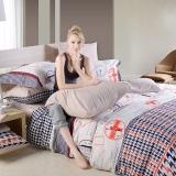多喜爱(Dohia)床品套件 全棉加厚磨毛床上用品四件套 床单款 香克林庄园 双人 1.5米床 200*230cm