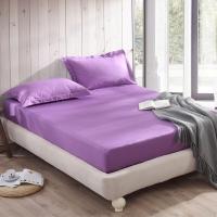 大朴(DAPU)床笠家纺 A类床品 精梳纯棉纯色床笠 大双人床罩 单件 风信紫 1.8米床 180*200cm