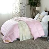 鸿润 优雅宝贝 被芯家纺 全棉70%白鸭绒被 舒适保暖羽绒被 冬被 被子 粉色 填充量1.1kg 200*230cm