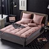 格兰贝恩(Globon)家纺 床垫床褥 羽绒鹅毛榻榻米垫被 豆沙色 填充量4.5kg 150*200cm