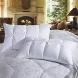鸿润 优雅宝贝 枕芯家纺 50%白鹅绒 三维立体 柔软面包枕头 白色 单只装 48*74cm