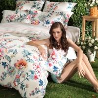 多喜愛(Dohia)床品套件 全棉加厚磨毛床上用品四件套 床單款 芳香醉人 雙人 1.8米床 230*230cm