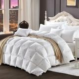 霞珍 被芯家纺 95%舒适白鹅绒被 保暖加厚羽绒被 秋冬被子 金色皇冠 填充量1.45kg 200*230cm