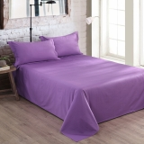 大朴(DAPU)床单家纺 A类床品 精梳纯棉纯色床单 大双人被单 单件 风信紫 1.8米床 240*270cm
