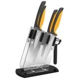 美瓷(MYCERA)陶瓷刀具套装六件套 厨房家用切菜刀 切肉片刀 水果刀(橙色)TQQ01O