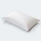 斯诺曼(snowman)枕芯家纺 五星级酒店舒适枕头 柔软鹅毛枕芯 白色 单个 74*48cm