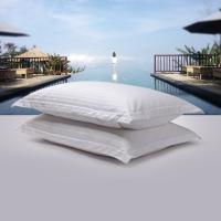 斯诺曼(snowman)枕芯家纺 五星酒店舒适枕头 鹅绒枕鹅毛枕一对组合 软硬高低组合 白色 两只装 50*90cm