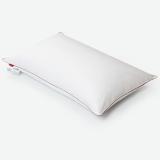 斯诺曼(snowman)枕芯家纺 五星级酒店舒适枕头 纯棉贡缎面料50%白鹅绒枕芯 羽绒枕 白色 单个 74*48cm