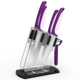 美瓷(MYCERA)陶瓷刀具企鹅柄厨具套装 全套家用菜刀 刮刨 削皮器(紫色)TQQ01V