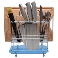 美厨(maxcook)刀架沥水架 收纳置物架合金多功能立式MSSB001-D(带托盘 防生锈 颜色随机)