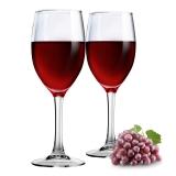 乐美雅(Luminarc)红酒杯晨露高脚杯25CL两支装 J0789