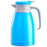 悠佳 鼎盛系列1L糖果色注塑壳保温壶暖水瓶 多功能热水瓶大容量真空办公水壶开水壶 粉蓝色ZS-9100-L