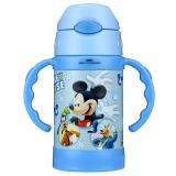 迪士尼(Disney) 保温杯米奇260ML儿童无毒吸管带手柄宝宝不锈钢水杯HM1966B