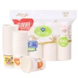 美丽雅 茶语加厚纸杯100只装190ml HC049611