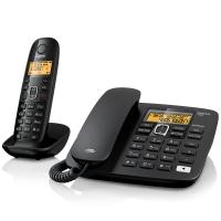 集怡嘉(Gigaset)原西门子电话机座机子母机A280数字无绳电话中文来电显示免提家用办公固定电话一拖一(黑)