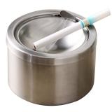 欧润哲 不锈钢带盖防风烟灰缸