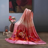 SAINTMARC罗莱生活出品 炫彩虞美人法兰绒毯SQ187-1 毯子毛毯 尚玛可150*200