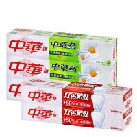 中华(ZHONGHUA)中草药牙膏 清香水果140g*3+双钙防蛀缤纷鲜果140g*2(3+2套装)